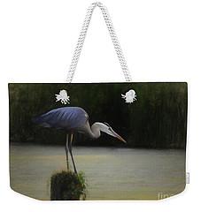 Ever Vigilant - The Great Blue Heron Weekender Tote Bag by Scott Cameron