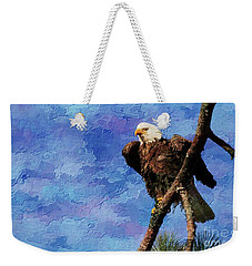 Weekender Tote Bag featuring the photograph Ever Watchful by Geraldine DeBoer