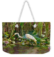 Everglades Hunter Weekender Tote Bag by David  Van Hulst