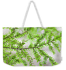 Weekender Tote Bag featuring the photograph Evergreen Abstract by Christina Rollo