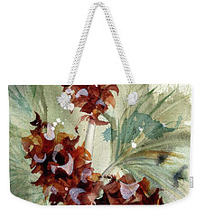 Weekender Tote Bag featuring the painting Evergreen Branch by Dawn Derman
