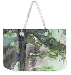Weekender Tote Bag featuring the painting Evergreen by Dawn Derman