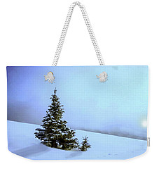 Weekender Tote Bag featuring the painting Evergreen Offspring P D P by David Dehner