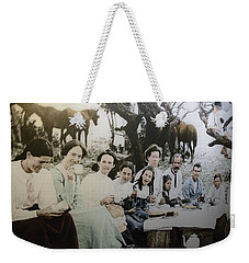 Weekender Tote Bag featuring the photograph Every Day Life In Nation In Making by Miroslava Jurcik