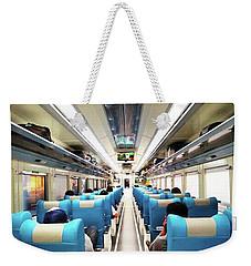 Perspective Inside A Train Weekender Tote Bag