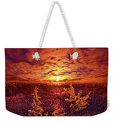 Weekender Tote Bag featuring the photograph Every Sound Returns To Silence by Phil Koch