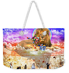 Weekender Tote Bag featuring the digital art Every Tribe Every Nation by Dolores Develde