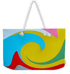 Everybody Has A Cousin In Miami Two Weekender Tote Bag by Dick Sauer