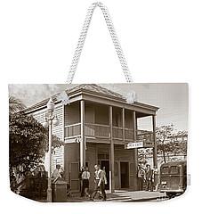 Everyone Says Hi - From Pepes Cafe Key West Florida Weekender Tote Bag by John Stephens