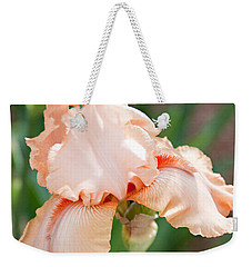 Weekender Tote Bag featuring the photograph Everything Is Peachy by Sherry Hallemeier