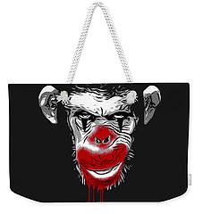 Evil Monkey Clown Weekender Tote Bag by Nicklas Gustafsson