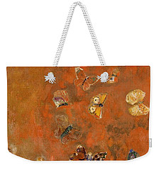Evocation Of Butterflies Weekender Tote Bag by Odilon Redon