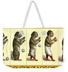 Evolution Of A Cat-cher Weekender Tote Bag