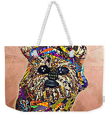 Weekender Tote Bag featuring the tapestry - textile Ewok Star Wars Afrofuturist Collection by Apanaki Temitayo M