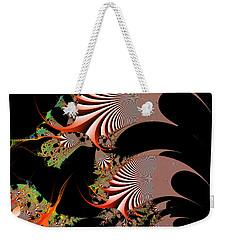 Weekender Tote Bag featuring the digital art Excetremen by Andrew Kotlinski