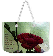 Weekender Tote Bag featuring the photograph Exchange I by Carolina Liechtenstein