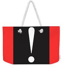 Exclamation Symbol Minimalist Poster Weekender Tote Bag