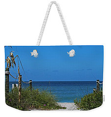 Weekender Tote Bag featuring the photograph Exclusively Captiva by Michiale Schneider