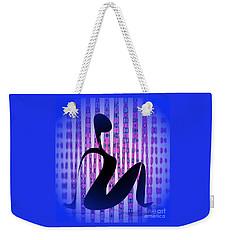 Weekender Tote Bag featuring the digital art Exercise Class 3 by Iris Gelbart
