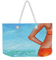 Exhale Softly Weekender Tote Bag by Donna Blackhall