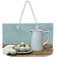 Exotic Colored Eggs With Pitcher Weekender Tote Bag
