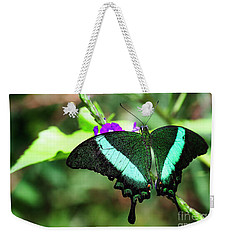Exotic Emerald Swallowtail  Weekender Tote Bag