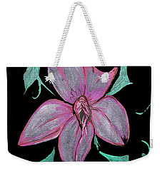 Weekender Tote Bag featuring the painting Exotic Flower by Tbone Oliver