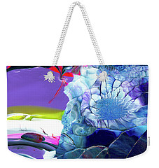 Exotic White Rose Island Weekender Tote Bag