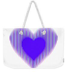 Expanding - Shrinking Heart Weekender Tote Bag