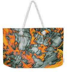 Exploded Fall Leaf Abstract Weekender Tote Bag