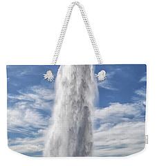 Exploding Geyser In Iceland Weekender Tote Bag