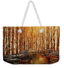 Weekender Tote Bag featuring the painting Exploration Of Ohio by Tatiana Iliina