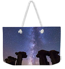Weekender Tote Bag featuring the photograph Exploration  by Tassanee Angiolillo