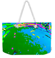 Weekender Tote Bag featuring the painting Exploration by Yshua The Painter