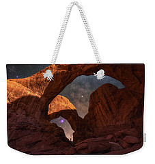 Weekender Tote Bag featuring the photograph Explore The Night by Darren White