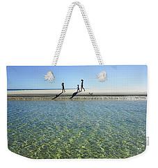 Exploring A Tidal Beach Lagoon Weekender Tote Bag