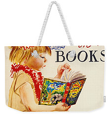 Weekender Tote Bag featuring the photograph Exploring Books 1961 by Padre Art