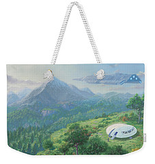 Exploring New Landscape Spaceship Weekender Tote Bag by Martin Davey