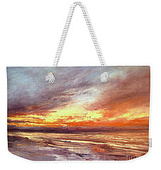Explosion Of Light Weekender Tote Bag by Valerie Travers