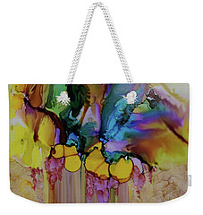 Weekender Tote Bag featuring the painting Explosion Of Petals by Joanne Smoley