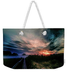 Weekender Tote Bag featuring the photograph Explosive Morning #h0 by Leif Sohlman