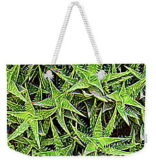 Weekender Tote Bag featuring the photograph Expressionalism Aloevera by Aimee L Maher Photography and Art Visit ALMGallerydotcom