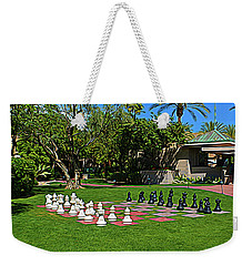 Weekender Tote Bag featuring the photograph Expressionalism Chess At The Biltmore by Aimee L Maher Photography and Art Visit ALMGallerydotcom