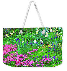 Weekender Tote Bag featuring the photograph Expressionalism Garden Escape by Aimee L Maher Photography and Art Visit ALMGallerydotcom