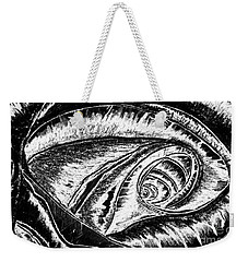 A0216a Expressive Abstract Black And White Weekender Tote Bag