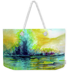Weekender Tote Bag featuring the painting Expressive by Allison Ashton