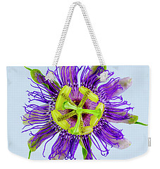 Expressive Yellow Green And Violet Passion Flower 50674b Weekender Tote Bag