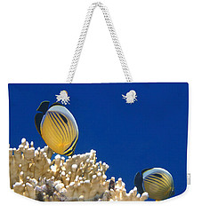 Exquisite Butterflyfish And Corals 3 Weekender Tote Bag