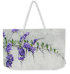 Weekender Tote Bag featuring the painting Extension Of Nature by Barbara Chichester