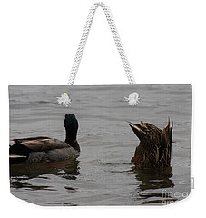 Weekender Tote Bag featuring the photograph Extreme Fishing by Kim Henderson